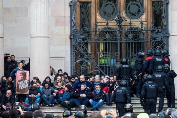 Manifestation à Barcelone contre «la répression», 14arrestations