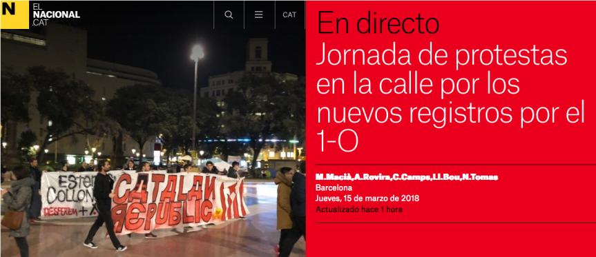 … les CDR ripostent dans la rue!