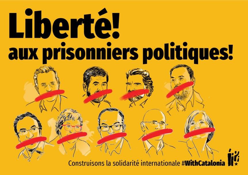 Pour la Libération des prisonniers politiquescatalans