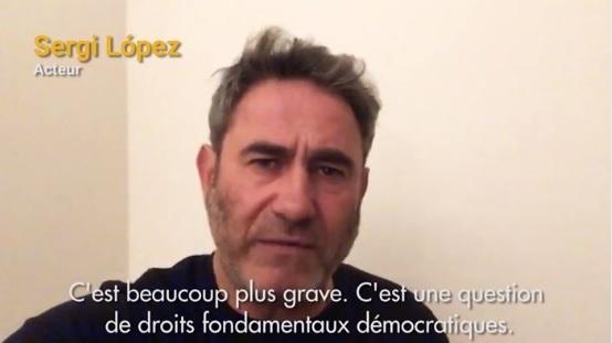 [J-1] Sergi López : « En Catalogne ce n'est pas une question d'indépendence, mais une question de droits fondamentaux. Il y a des gens en prison pour des idées politiques »