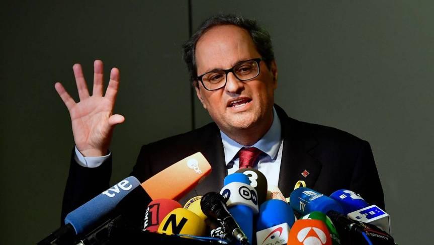 Catalogne. Le président séparatiste Quim Torra demande à Mariano Rajoy de fixer unerencontre