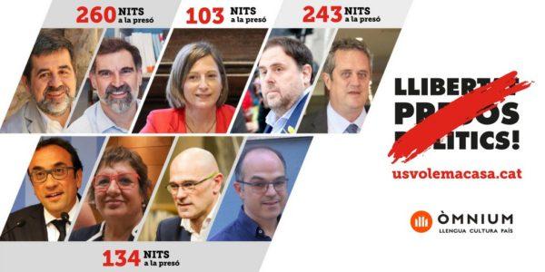 Le transfert des prisonniers politiques dans les prisons catalanes est encours