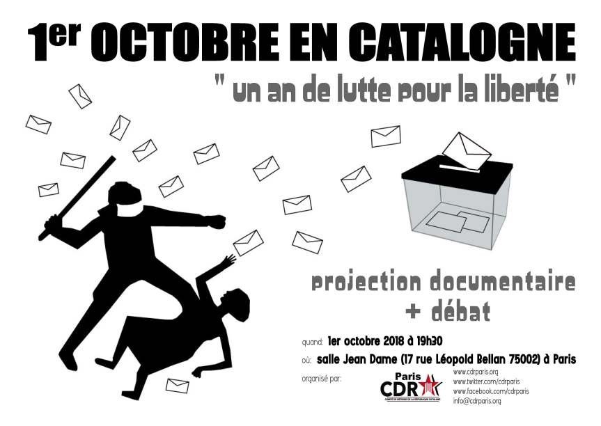 Le 1er octobre : 1 an de lutte pour laliberté