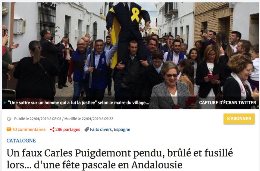 Puigdemont «fusillé» !