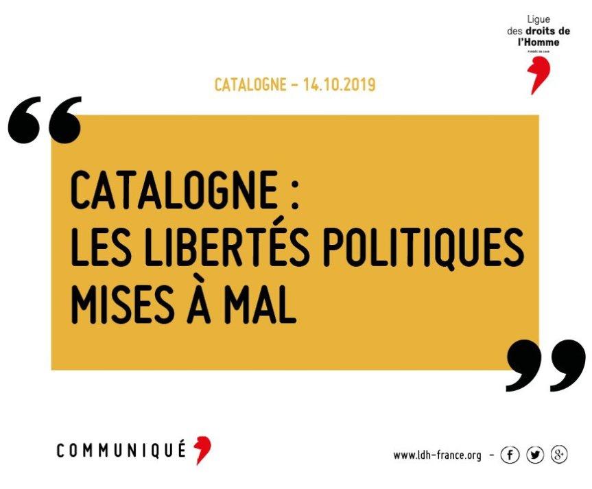Sentences du 14-O: Communiqué de la Ligue des droits del'Homme