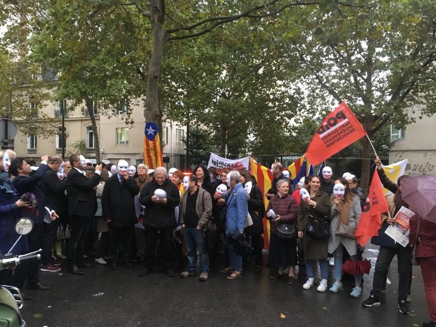 Appel au Rassemblement solidaire contre la répression en Catalogne mercredi 21 octobre 18h devant l'Ambassade d'Espagne àParis